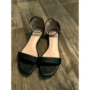 Kelly and Katie Black Leather Sandal 8.5